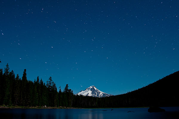 Moonlit Mt Hood