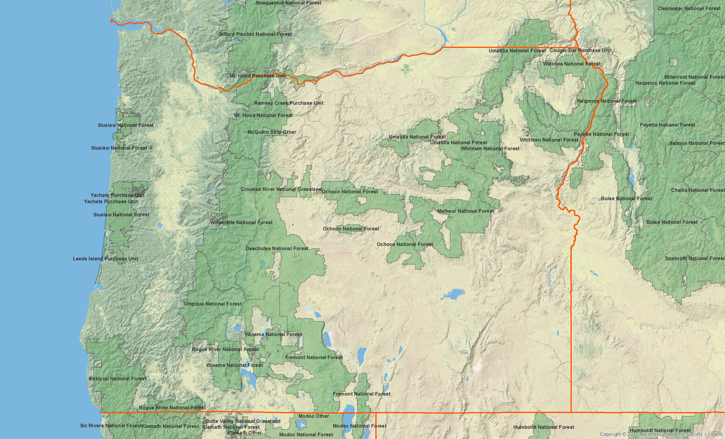 Oregon Chapter Sierra Club - Map of the state of oregon
